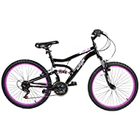 Muddyfox 女孩/儿童 黑色 Inca 山地自行车 - 黑色 - 英国尺寸 1-1