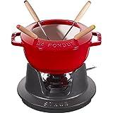 Staub 奶酪火锅,电磁炉适用,铸铁,1件 Kirschrot 21.7 x 16.7 x 8.4 cm 14001606