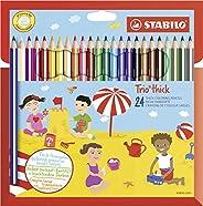 STABILO 三角棱-彩色铅笔 -Trio dick- 24er Set 多种颜色
