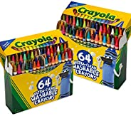 Crayola 64 支装超洁面蜡笔,2 支装,多色