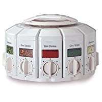 KitchenArt 25000 Select-A-Spice Auto-Measure Carousel Professional Series, White