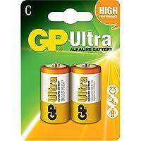 GP超霸 2号碱性电池二号超能无汞中号D型GP14AU-21L2 2节卡装