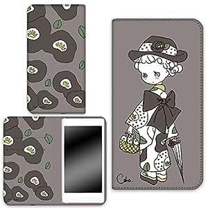 caho 保护套双面印花翻盖和服与花手机保护壳翻盖式适用于所有机型  着物と花E 2_ Xperia XA F3115