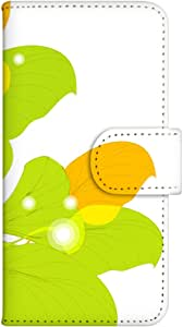 智能手机壳 手册式 对应全部机型 印刷手册 wn-645top 套 手册 花朵图案 UV印刷 壳WN-PR061453-MX AQUOS Xx2 502SH B款