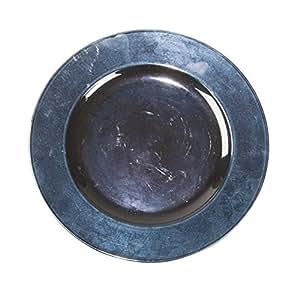 Tripar International Plastic Plate, 13-Inch, Blue, Set of 4