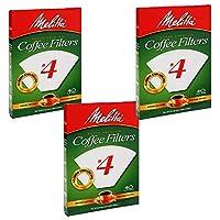 Melitta 美乐家 锥形咖啡过滤器 白色 4、100支(3)
