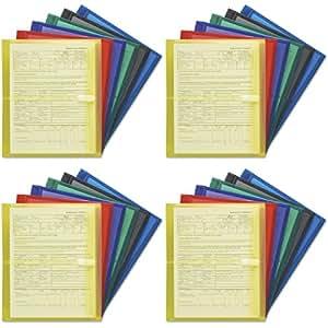 Smead 信封,3.18 厘米扩展,钩环闭合,侧载,字母尺寸,多色,每包 6 个 (89669) 4 Packs 多种颜色