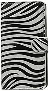 JUJEO Zebra Stripes Stand Leather Case with Wallet for Samsung Galaxy Note 4 SM-N910S SM-N910C - Non-Retail Packaging - Multi