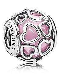 Pandora 潘多拉 丹麦品牌  粉色缠绕的爱925银串饰792036PCZ