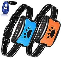 BATVOX 止吠项圈 2 件装可充电无伤害狗吠项圈带振动、声音和无冲击,适用于中小型犬(2020 *)