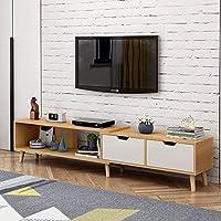简约现代电视柜茶几组合北欧小户型地柜迷你家具伸缩电视机柜 (北欧松木色(电视柜))