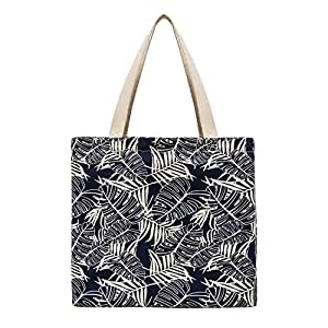 Planet E 可重复使用的杂货购物袋 - 时尚美国制造帆布手提袋 蓝色 1 包 均码 H1284_S1_Blu