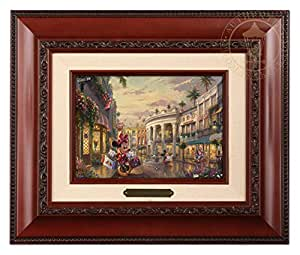 Thomas Kinkade Studios 米妮摇滚 Rodeo Drive 上的圆点 5 x 7 刷子 Brandy Frame 12Lx10Hx1.25W 87978