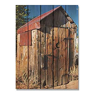 Gizaun Art Out 室内/室外墙壁艺术 28W x 36H in. 棕色 OH2836