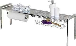 WENKO 2015010100 93 x 30 x 21.5 厘米镀铬精致水槽架带厨房卷架