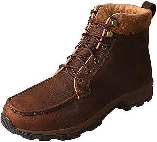 Twisted X 户外靴男式徒步防水蕾丝深棕色 MHKW004