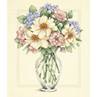 Dimensions Needlecrafts Counted Cross Stitch, Flowers In Tall Vase