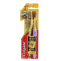 Colgate 高露洁 纤柔炭∙金牙刷×2(深洁 超软细毛)