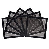 CM 电脑机箱 风扇 灰尘过滤器 PC 网状过滤罩 格栅 带磁性框架 黑色 (120 x 120 mm(6件))