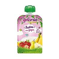 GLORIA酸奶果汁泥梨香蕉苹果草莓100g(西班牙进口)