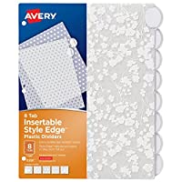 Avery Style Edge 可插入式塑料隔片,8 片标签,1 套,各种时尚设计 (11291)