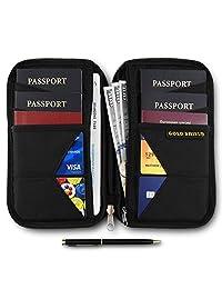 家庭护照夹旅行 RFID 屏蔽钱包文件保护盒及收纳盒
