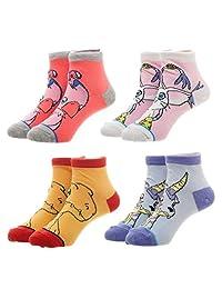 Digimon 青少年袜子 4 双装