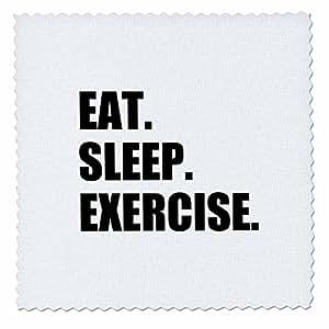 inspirationzstore EAT Sleep 系列–EAT Sleep 练习 GIFTS for 健身房兔子或 KEEP 修身健身爱好者–方块拼布