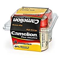 Camelion 飞狮 LR20-PB4 碱性1号电池 4粒盒装