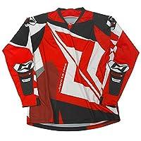 Mots MT2112SR Try Rider3 T 恤,紅色,S 碼