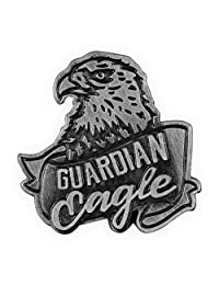 Angelstar Guardian Eagle 翻领别针,古银色
