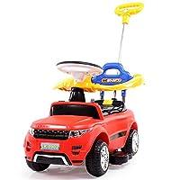 LEKANG儿童电动车四轮宝宝玩具汽车可坐人护栏推杆婴儿滑行学步童车8902 (红)
