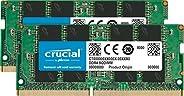 Crucial 英睿达 CT2K16G4SFD8266GB套件(16 GB x2)(DDR4、2666 MT / s,PC4-21300,双列x8,SODIMM,260针)内存