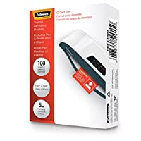 Fellowes Laminating Pouches, ID Tag Size, 5 Mil, 100 Pack (52015)