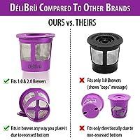 4 個可重復使用 K 杯,適用于 Keurig 2.0 和 1.0 咖啡機。 通用可填充 KCup,Keurig 過濾器,可重復使用的杯子,k 杯子可重用過濾器,不含雙酚 A