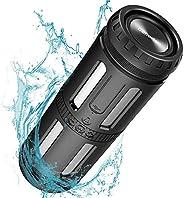蓝牙音箱防水 IPX67 便携式扬声器响亮立体声,30 小时播放时间,增强的低音,内置麦克风,防尘,防震免提通话,5200mAh 移动电源,适用于派对、露营