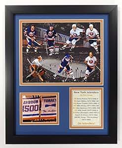 Legends never DIE NHL NEW YORK islanders ALL TIME greats 双63.5cm x 73.66cm 哑光带相框30.5x 38.1cm