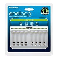 Panasonic松下 eneloop,智能高端充電器,適用于 1-8 節鎳氫電池 AA/AAA