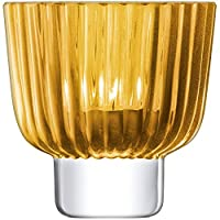LSA 国际褶皱茶花架 H9.5cm 琥珀色 9.5 x 9.5 x 10.5 cm PT10