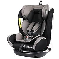 REEBABY 瑞贝乐 汽车儿童安全座椅ISOFIX 0-4-6-12岁婴儿宝宝新生儿可躺 906FIX灰色(供应商直送)