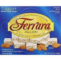 Ferrara Torrone Nougat Candy, Almond Honey, 18 Count (Pack of 12)