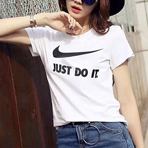 ナイキナイキ半袖の女性のシャツ2018年夏の新しい印刷の動きカジュアル通気性ラウンドネックルーズTシャツ889404-010