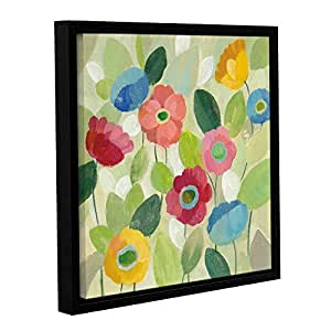 "ArtWall ""Silvia Vassileva's Fairy Tale Flowers IV"" Gallery Wrapped Floater-Framed Canvas, 18"" x 18"""