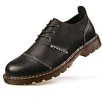 Topsky 远行客 户外工装鞋 低帮厚底防水短靴 男士头层牛皮大头皮鞋 休闲男鞋潮鞋子 耐磨防滑徒步登山鞋 21955A