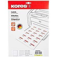 Kores 薄膜标签 白色 激光+复印机 210.0 × 148.0 毫米 10 张 20 张标签