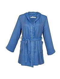 ESELBA Copenhagen 舒适女式浴袍 蓝色 L/XL