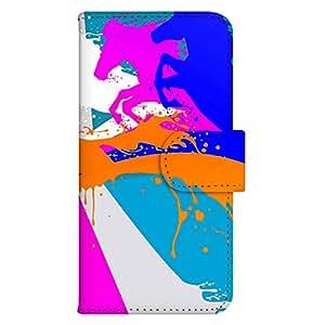 智能手机壳 手册式 对应全部机型 印刷手册 wn-519top 套 手册 动物效果 UV印刷 壳WN-PR158482-S Galaxy S SC-02B 图案E