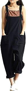 Gihuo 女式宽松阔腿宽松全包亚麻哈伦裤