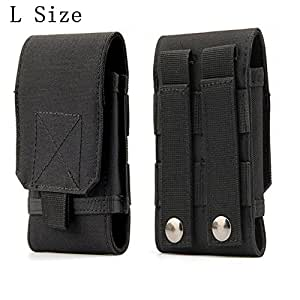 Tactical MOLLE 智能手机枪套,通用*手机皮带袋 EDC *包携带配件套件吹出袋皮带环腰包保护套适用于 iPhone 6/6s 6plus 三星 Galaxy S7 S6 edge #A(大号)