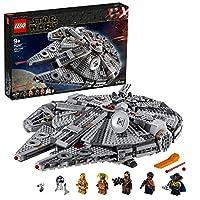 LEGO 75257 星球大战千年猎鹰星舰建筑套装,含芬兰、丘巴卡、兰多卡里斯、波利奥、C-3PO、R2-D2 和 D-O,天行者起源系列,多种颜色